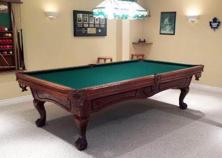 Toronto Billiard Services - Brunswick pool table disassembly